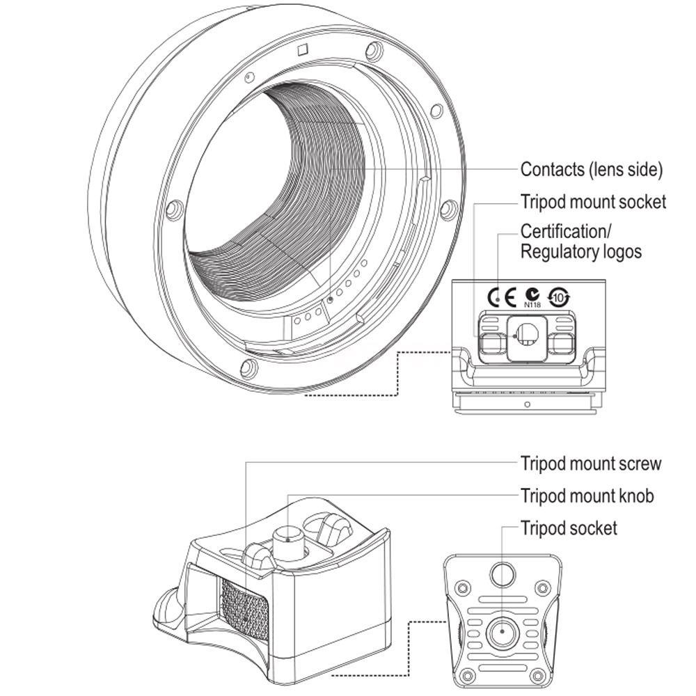 Viltrox Autofokus EF-EOS M Mount Objektiv Mount Adapter